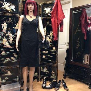 Moschino jeans trumpet pinup corset dress black 68